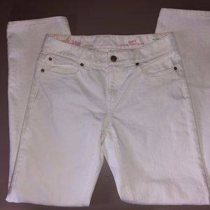 Lilly Pulitzer White Main Line Straight Je…